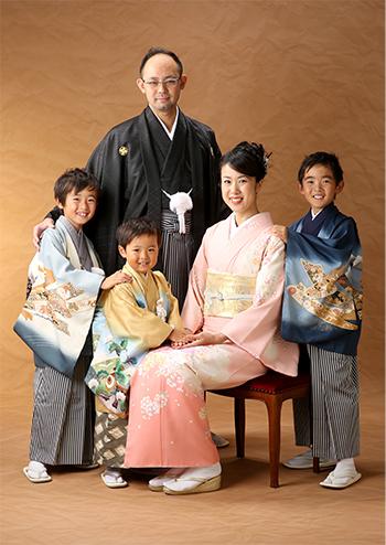 和装家族写真