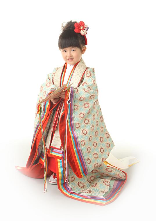 三歳 平安緑青(へいあんろくしょう)十二単