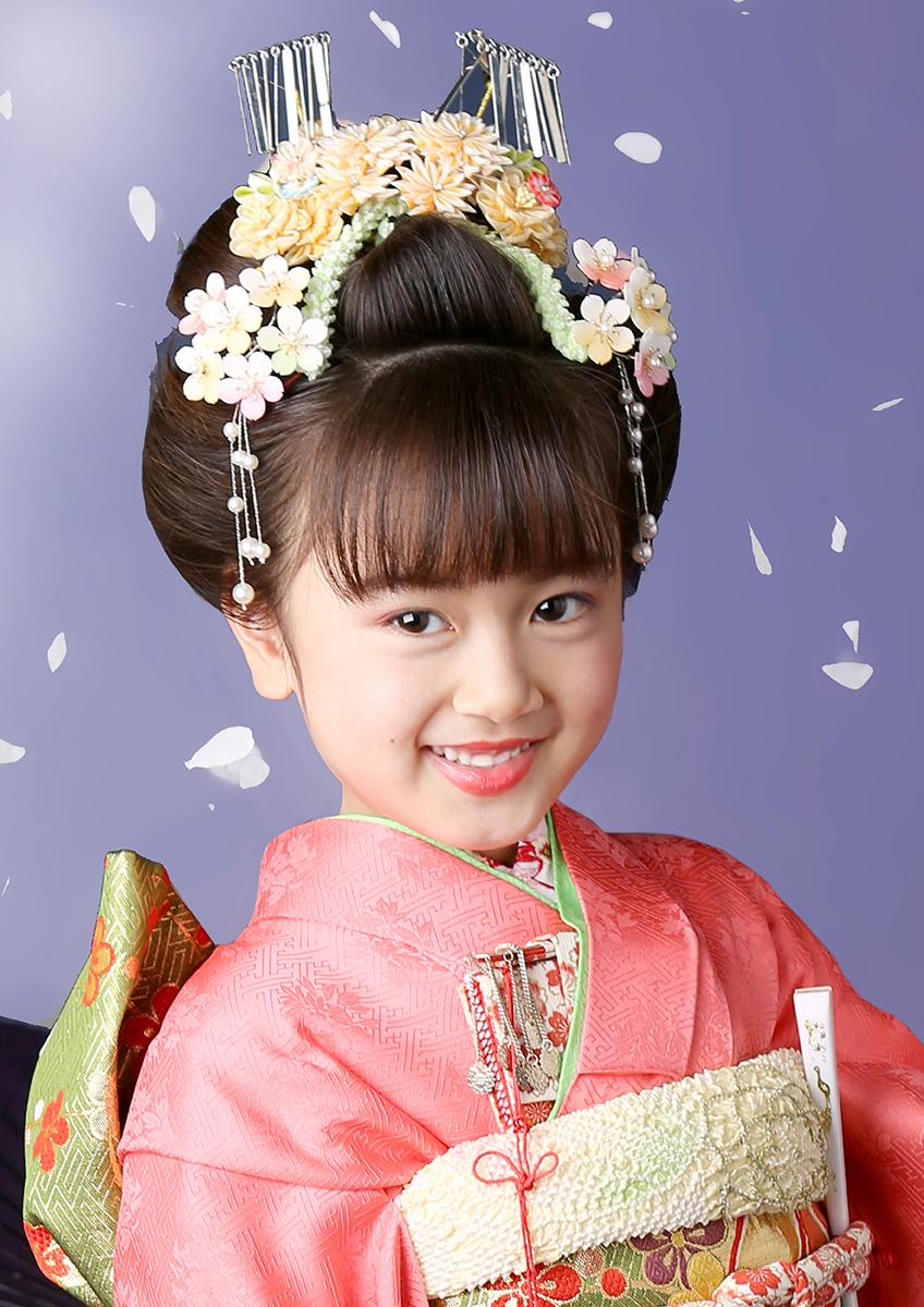 七歳 日本髪 可愛く品よく 『藤娘』櫛(くし)