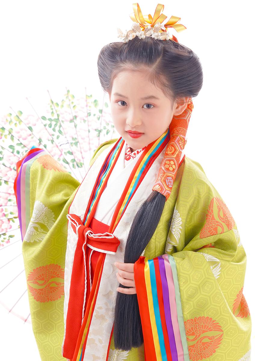 七歳 日本髪 豪華に特別に 『あんみつ姫』