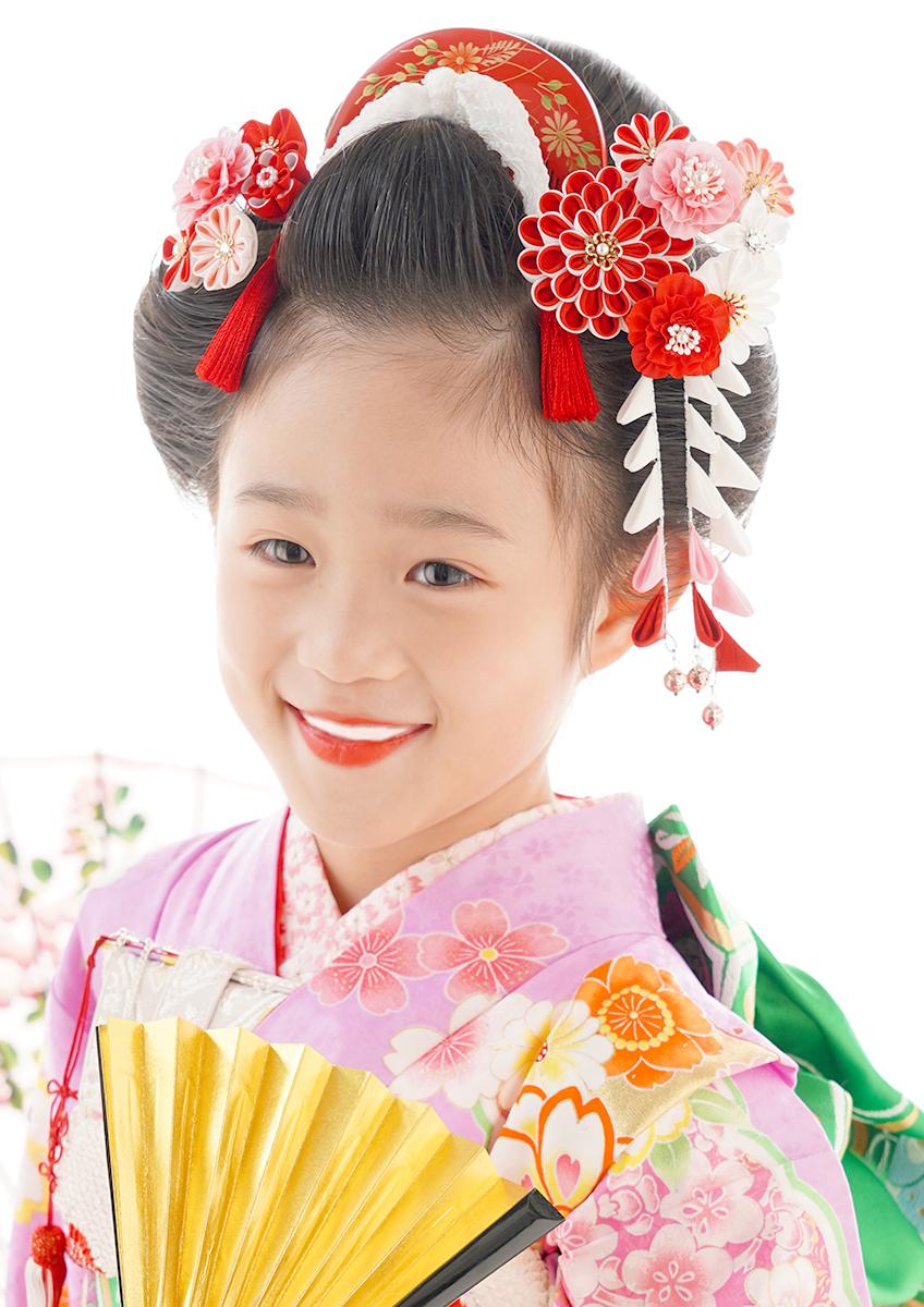 七歳 日本髪 人気No1♪ 『愛姫』花かんざし