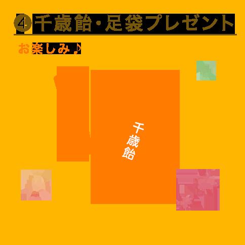 千歳飴・足袋プレゼント